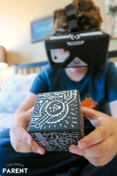 Boy playing MERGE VR Games