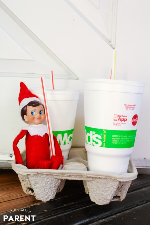 Funny Elf on the Shelf Ideas: Bring McDonald's!