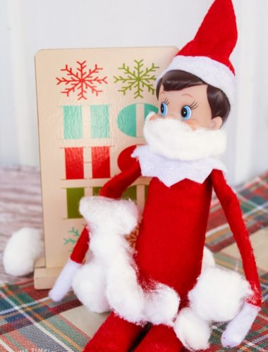 Funny Elf on the Shelf Ideas: Santa Disguise