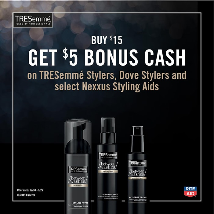 Save on TRESemmé Between Washes products at Rite Aid