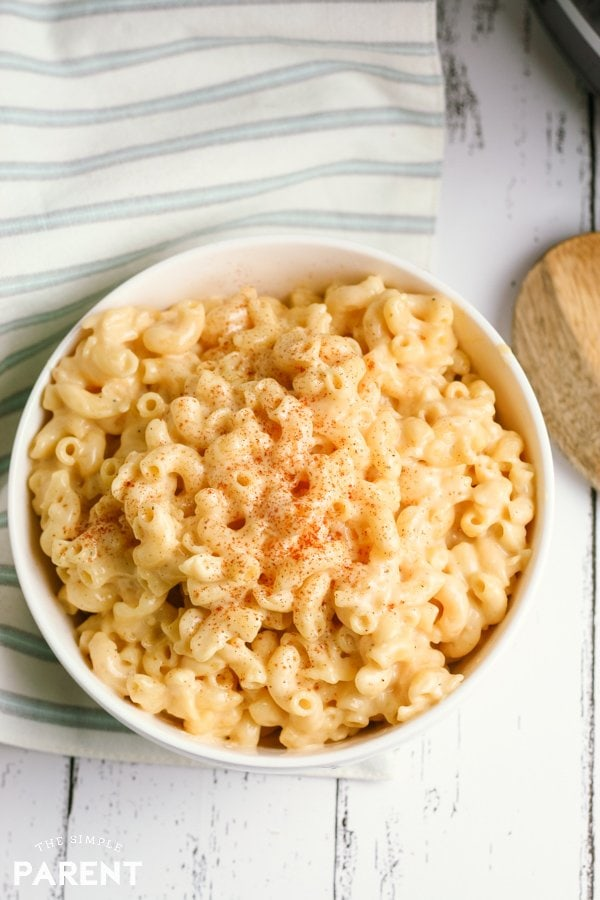 Bowl of the best Crock Pot Mac and Cheese