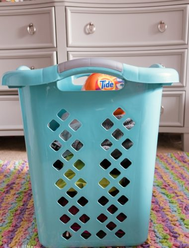 Individual laundry basket as part of an easy laundry system for families