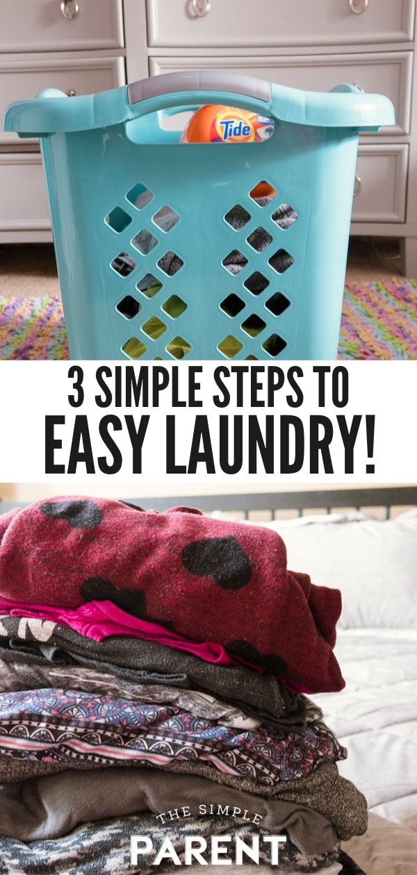 Learn how the easiest laundry system ever is helping me save time and money! It's perfect for my large family with kids and pets! These are the ideas and tips that changed my life! There aren't anymore clothes laying around my home! Check out how simple it is to get started!