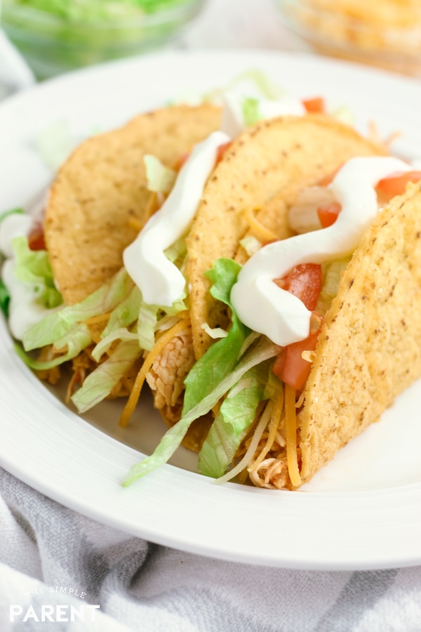 Shredded Chicken Tacos in the Crock Pot