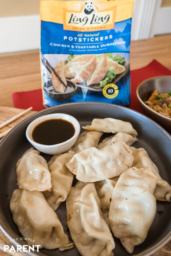 Ling Ling Potstickers with dipping sauce
