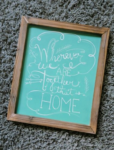 Sign about home - Wherever we are together that's home