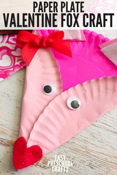 Valentine Fox Paper Plate Craft