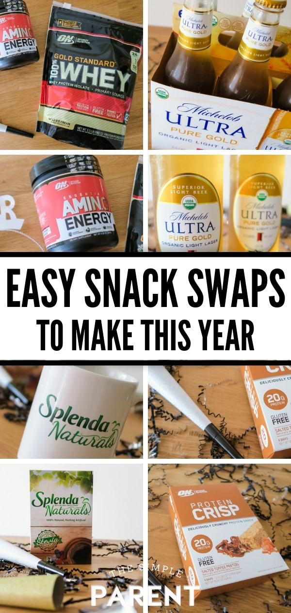 Easy Snack Swaps to make like low carb beer, natural sweeteners, and high protein snacks