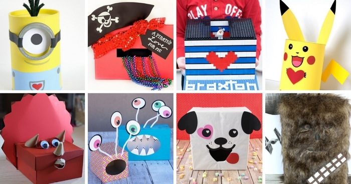 Valentine day boxes for boys