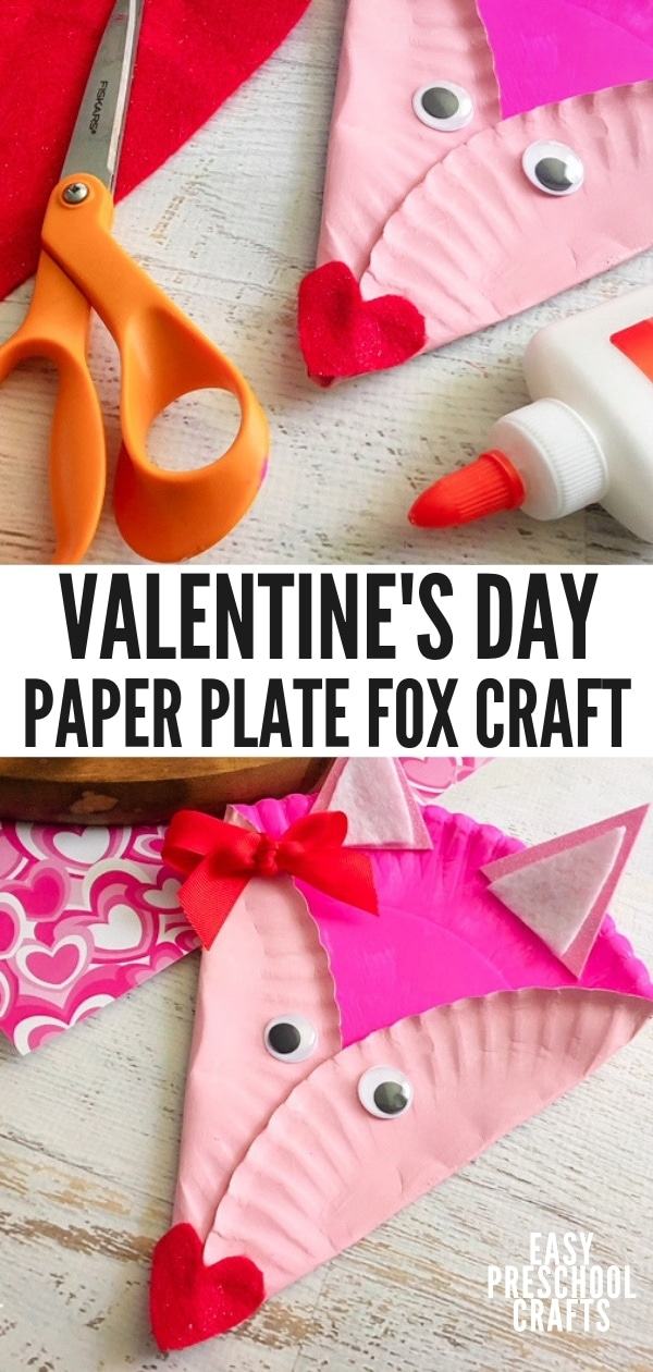 Valentine's Day Fox Paper Plate Craft for Kids