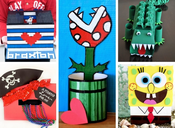 Valentines Day boxes for boys