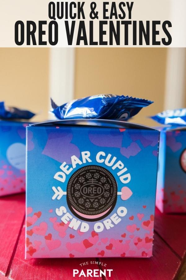 Easy Valentine's Day OREO boxes for classroom exchange