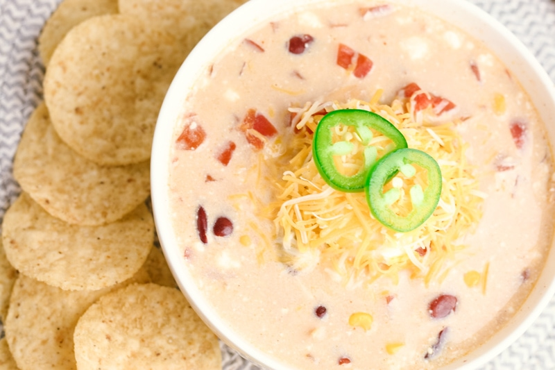Crock Pot Cream Cheese Chicken Chili The Simple Parent