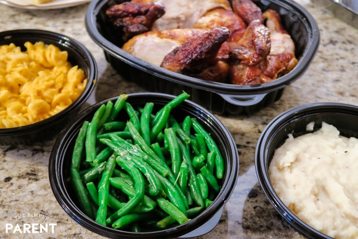 Boston Market Family Meal with Chicken and Side Dishes