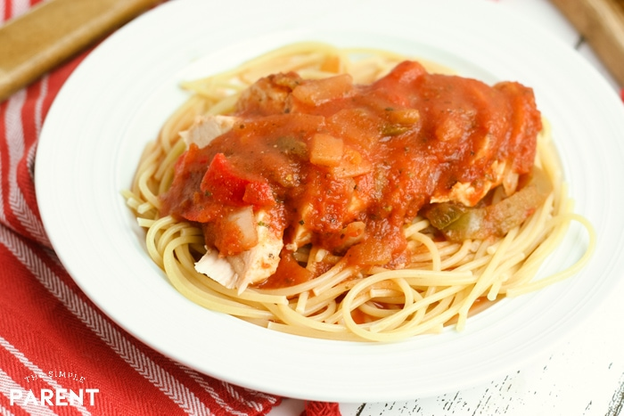 Chicken cacciatore made in the Crock Pot