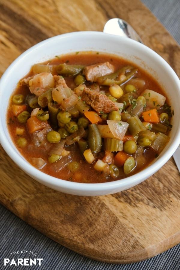 Crockpot Vegetable Beef Soup