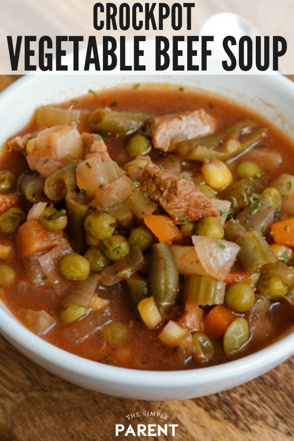 Crockpot Vegetable Beef Soup Recipe