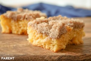 Homemade coffee cake made with boxed cake mix