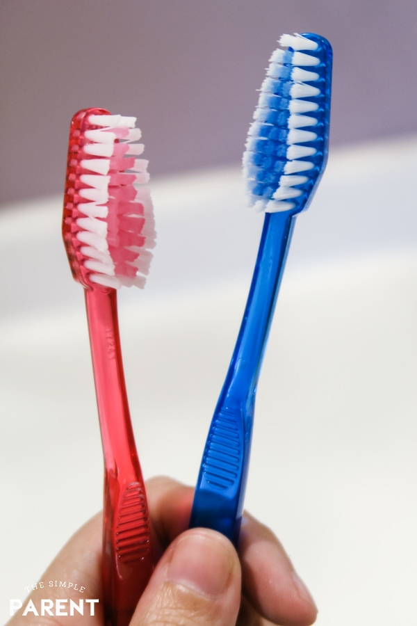 New toothbrushes to help keep teeth white
