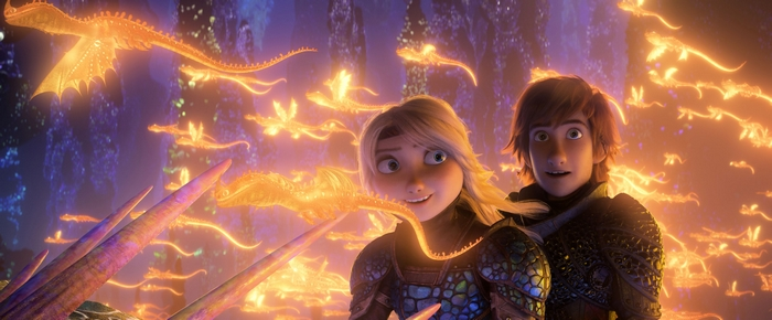 Astrid and Hiccup in How to Train Your Dragon 3