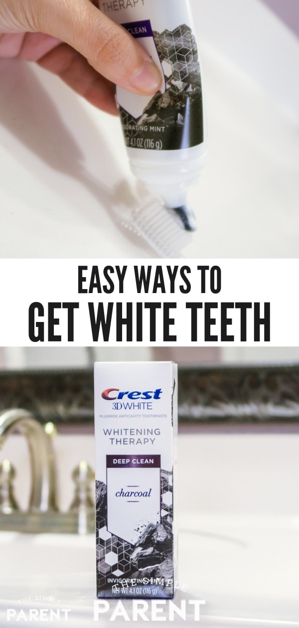 Learn how to get white teeth (and keep them!) by using charcoal and coconut oil toothpaste, setting a healthy daily routine at home, and watching what you eat and drink. If you're looking for products to make whitening teeth easier, Crest has new formulas to try!