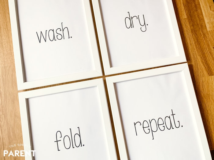 Laundry room printable signs for decorating