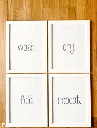 Free laundry room printables artwork