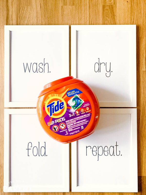 Laundry room printable signs with Tide Laundry Detergent