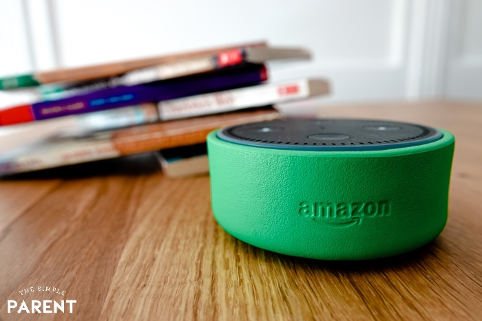 Amazon Echo Dot Kids Edition with books