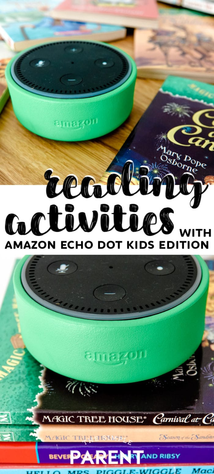 Try these reading activities with the Amazon Echo Dot Kids Edition and Freetime on Alexa. Read audio books for kids, play games, learn new vocabulary words, and more!