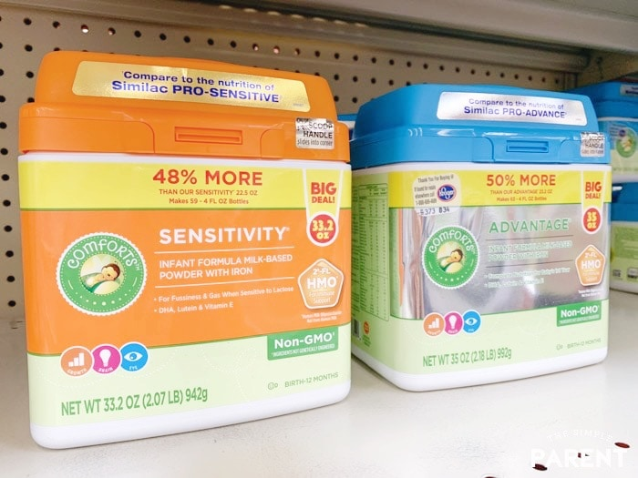 Comforts Infant Formula on shelf at Kroger Grocery Store