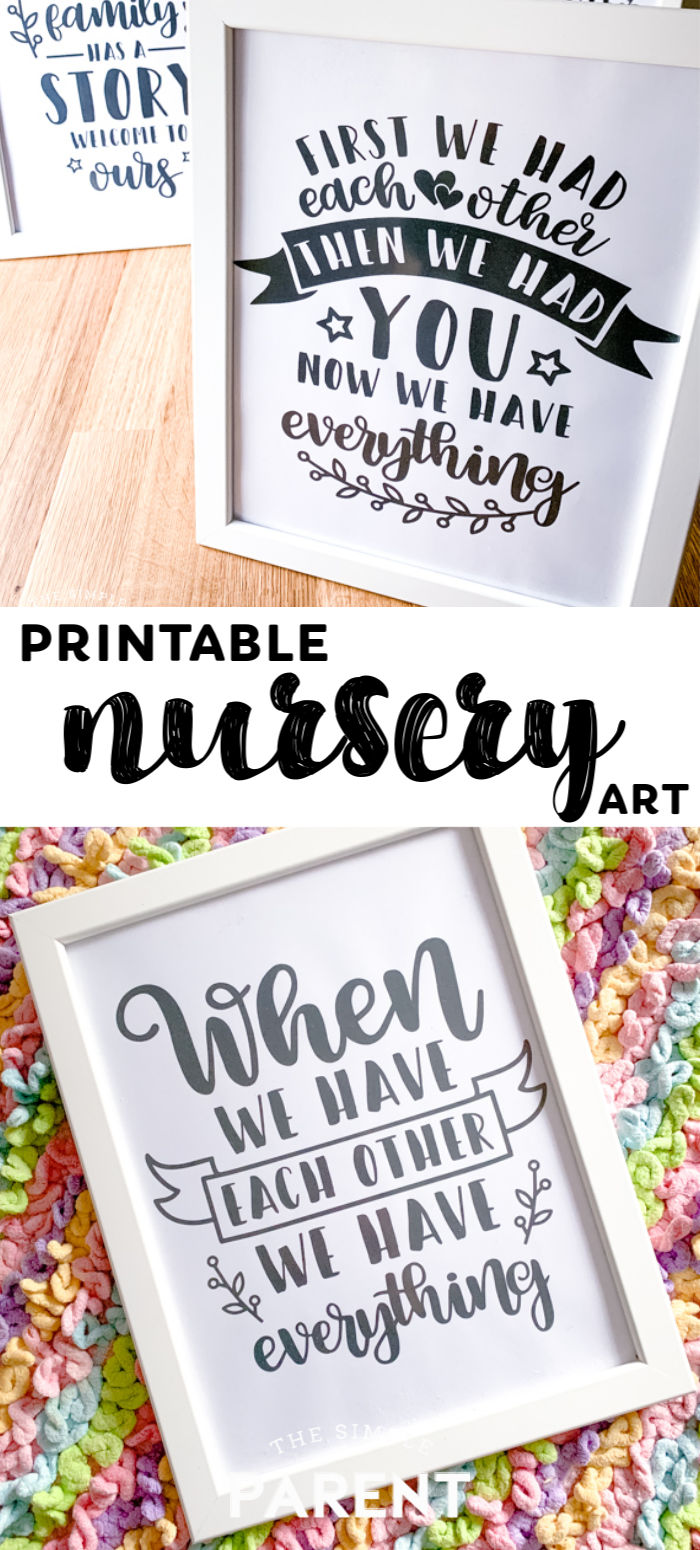 Printable Baby Nursery Art