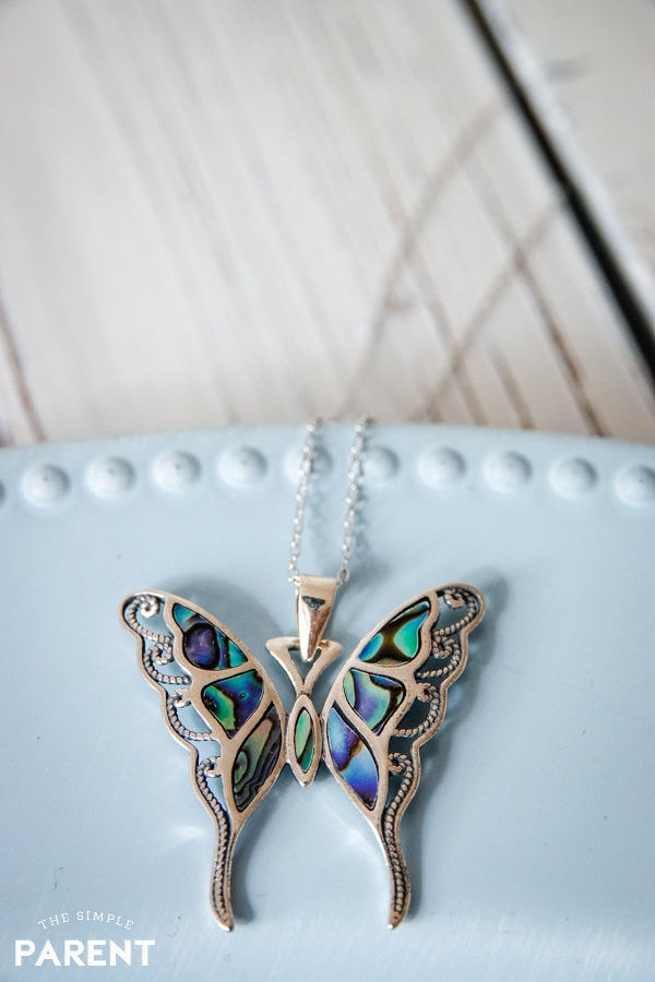 Butterfly necklace from Kohl's