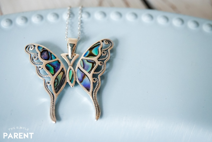 Blue Butterfly necklace from Kohl's fine jewelry collection