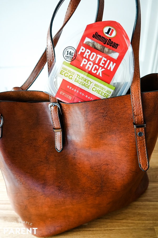 Jimmy Dean Protein Pack in mom's purse