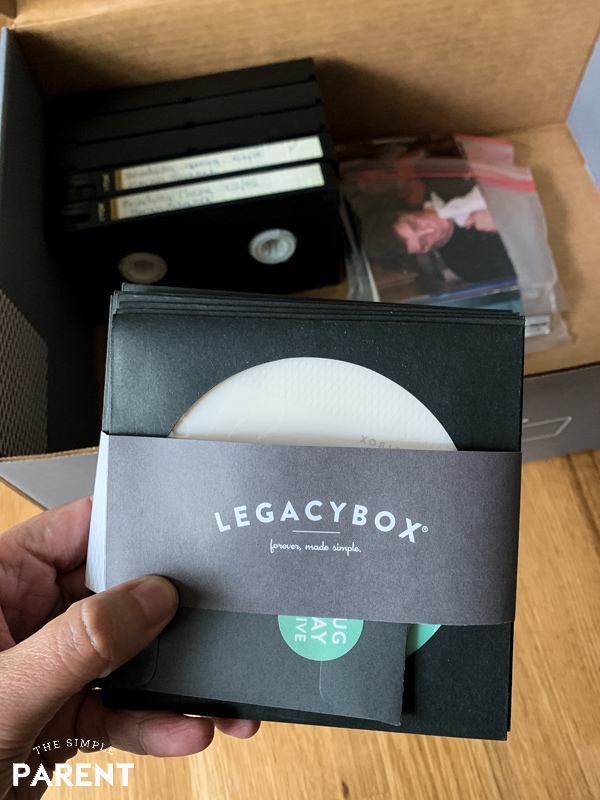 Digitized files on CD from Legacybox