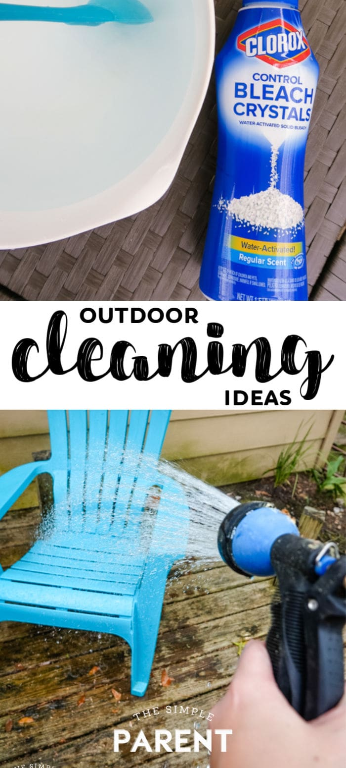 Outdoor uses for bleach for cleaning
