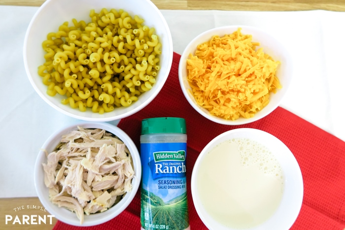 Ingredients for Chicken Mac and Cheese Recipe