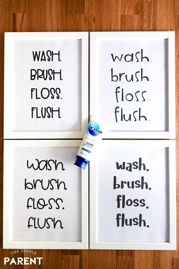 Printable Free Bathroom Signs