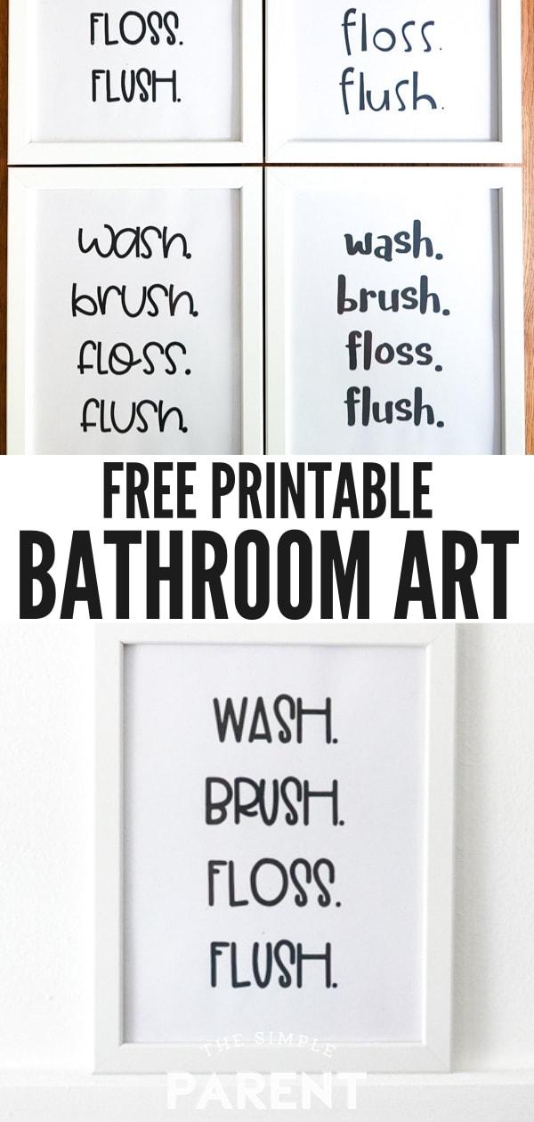 Free Printable Bathroom Art