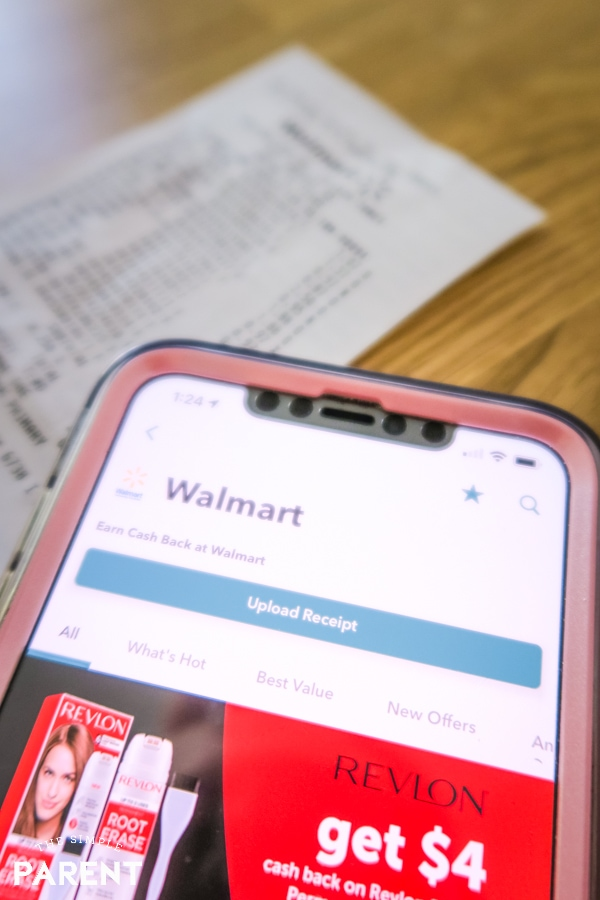 Scanning grocery store receipt using Ibotta app