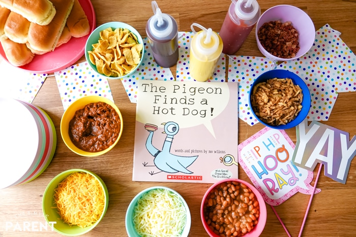 Hot dog toppings for a hot dog bar