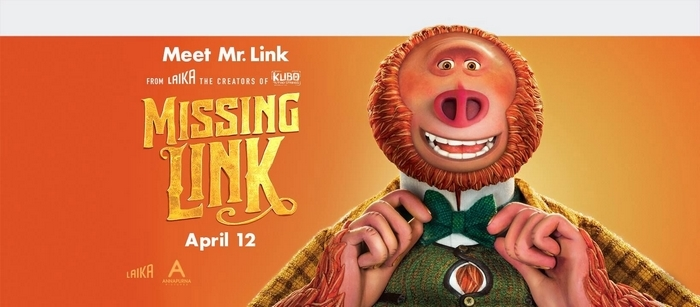 Missing Link opens in theaters on April 12th