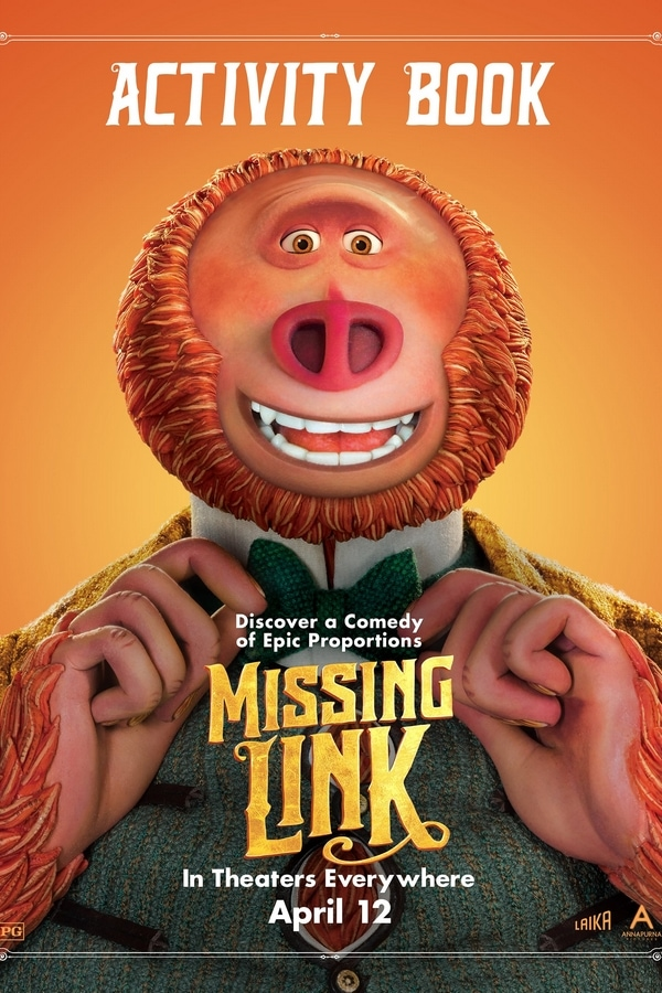 FREE Missing Link movie printables