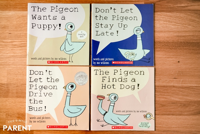 Pigeon books by Mo Willems
