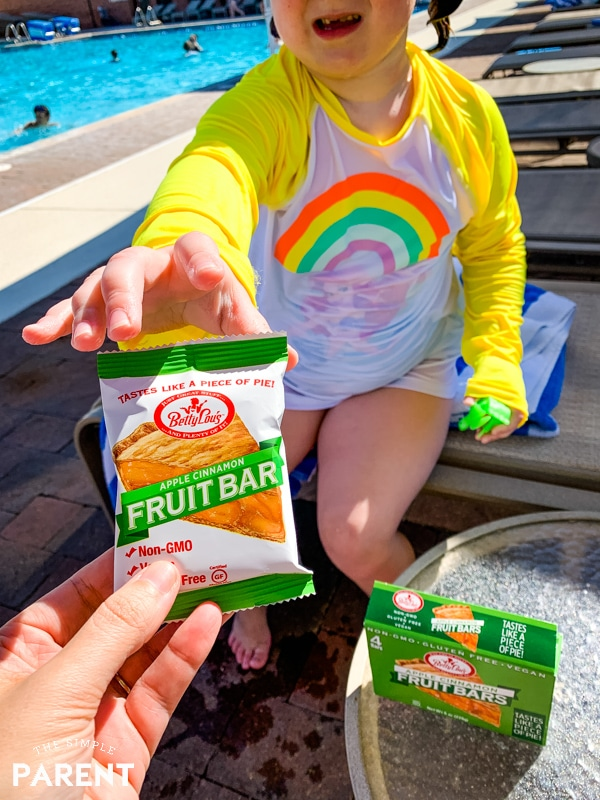 Betty Lou's Fruit Bars as pool snacks