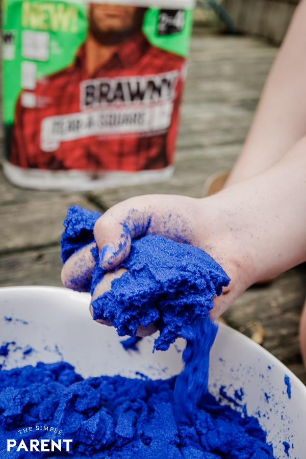 Blue DIY kinetic sand