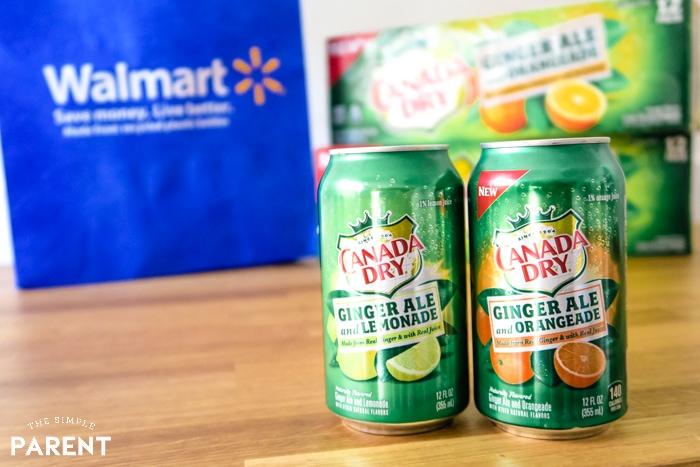 Canada Dry Ginger Ale with Lemonade and Orangeade
