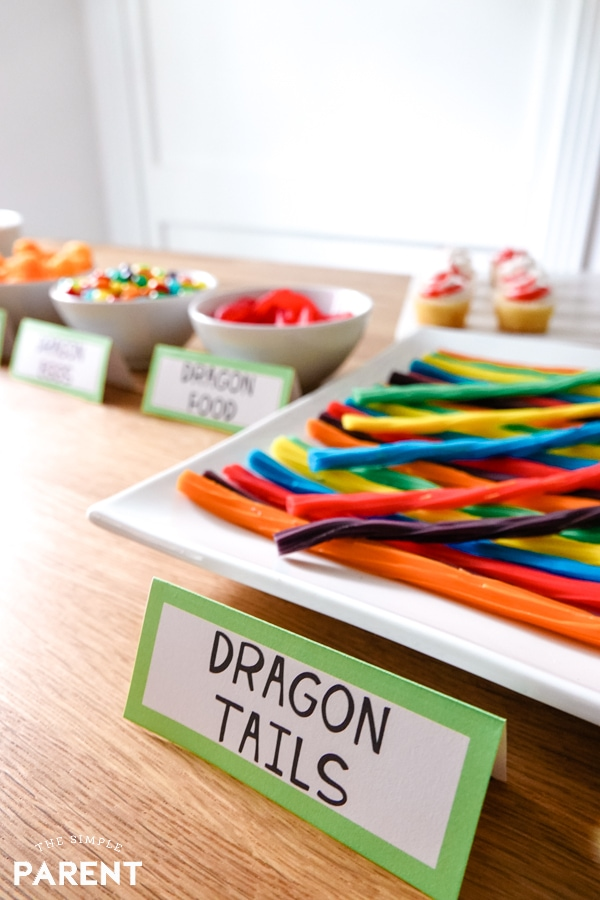 How to Train Your Dragon Party candy bar