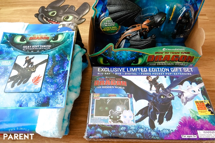 How to Train Your Dragon 3 DVD and merchandise